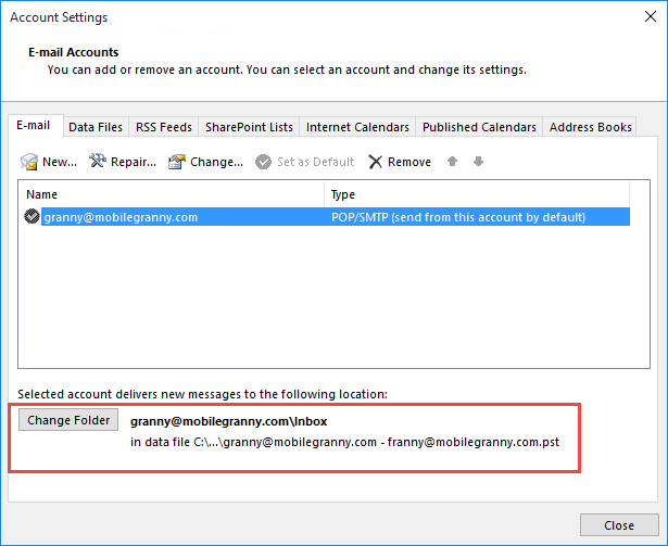 how to use folders in outlook