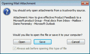 Open or Save attachment