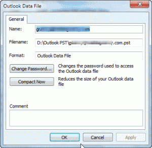 Compact data file dialog