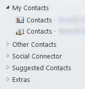 30 contact folders reduced to groups