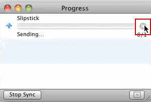 Outlook 2011's progress dialog