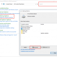 Rebuild Outlook's Instant Search Index