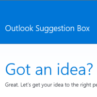 Outlook Suggestion Box at Uservoice