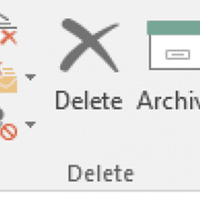 Outlook 2016's Archive Button