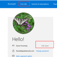 Change Display Name for Outlook.com