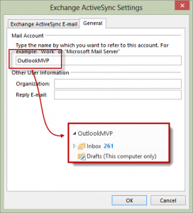 change an EAS account name
