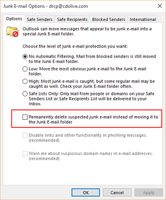 how to send emails to junk automatically