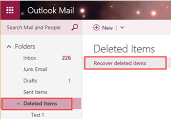 recover deleted new outlook.com