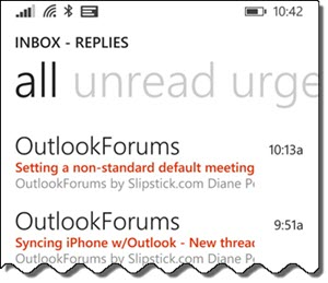 shared mailbox on windows phone