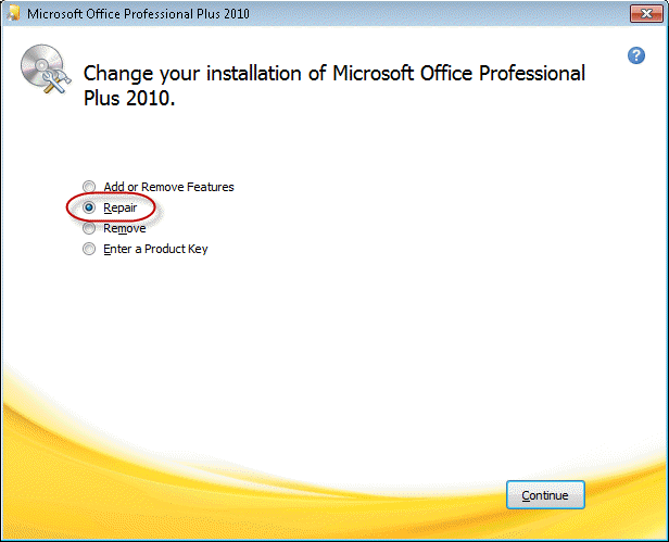 How to Repair Your Office or Outlook Installation