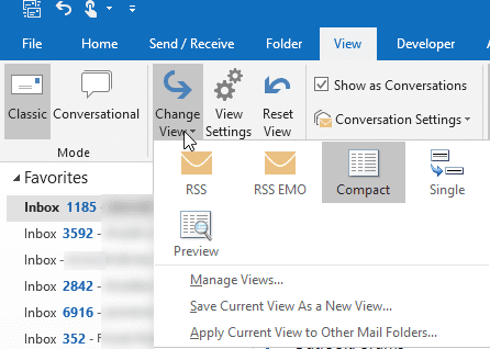 apply view to other folders