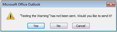 meeting has not been sent warning
