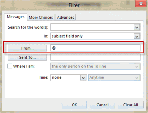 Create a rule for all external email