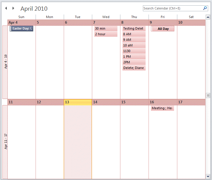 Calendar Week.View A Two Week Calendar