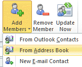 Add members to the contact group