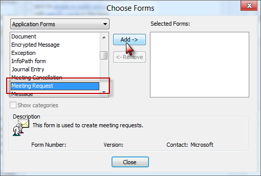 Autoaccept a Meeting Request using Rules