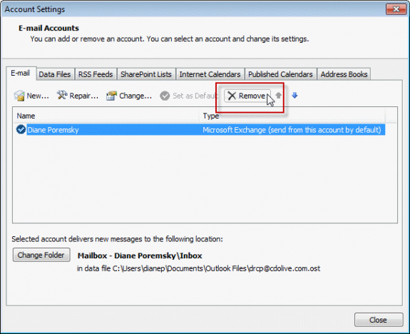 Conigure Address books in Outlook 2010