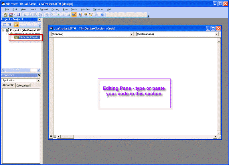 How to use Outlook's VBA Editor