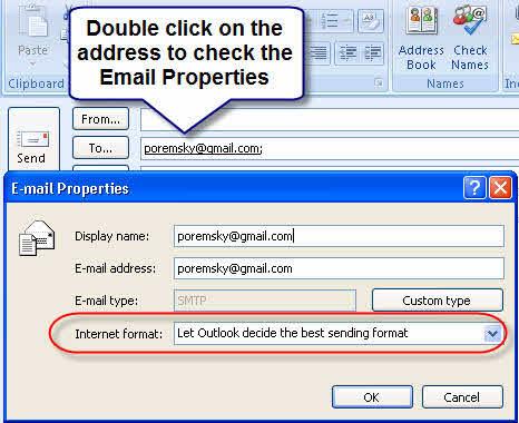 Let Outlook choose