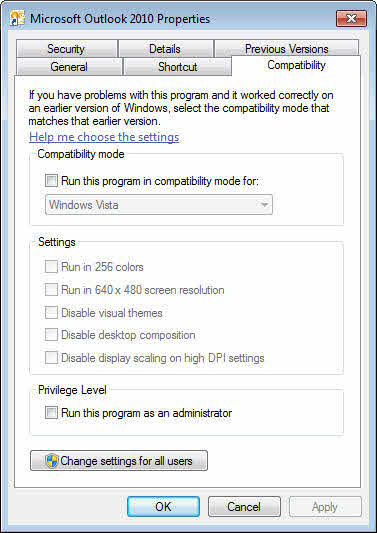 Check Compatibility Mode Settings
