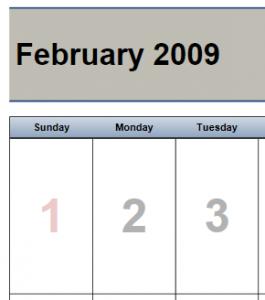 Calendar Printing Assistant Template (original)