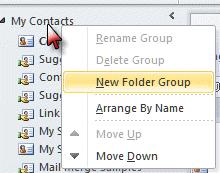 Create a new navigation pane group