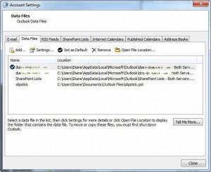 Remove duplicate pst files