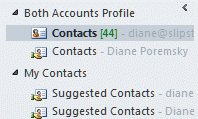 Use navigation pane groups to identify the profile