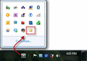 Outlook 2010's New Mail icon