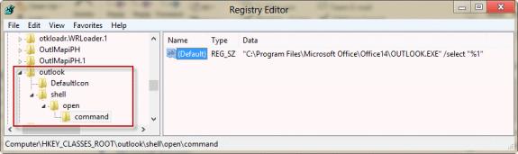 Outlook Protocol key