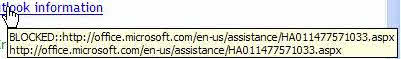 Blocked URL