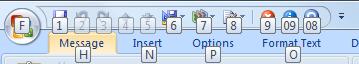 Quick Access Toolbar shortcuts