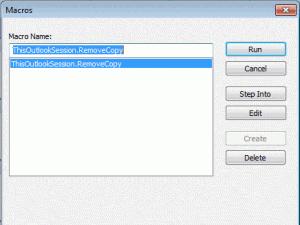 Use the Macro dialog to run macros at any time.