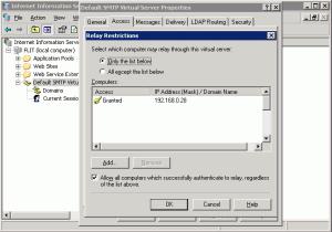 Block SMTP Relay