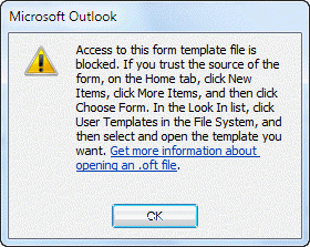 warning sign on microsoft outlook