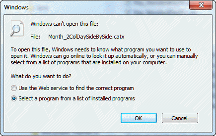 Choose the program to open this file