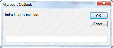 Enter the file number into the input box.
