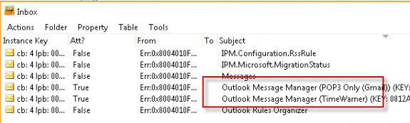 A look at the hidden Mailbox Manager messages using MFCMapi