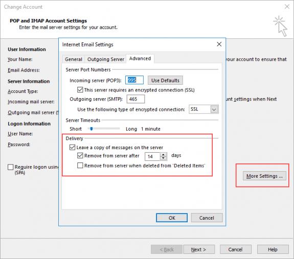 more settings advanced dialog