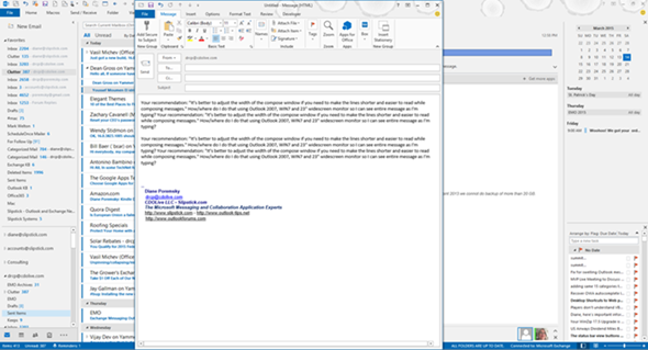 adjust the width of the compose window
