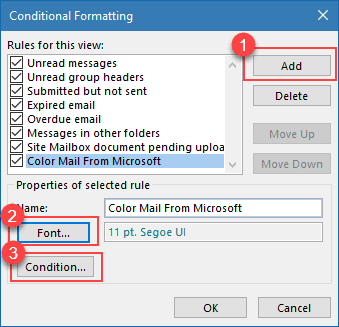 Create a conditional formatting rule