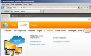 AT&T website