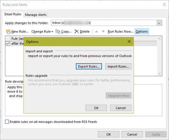 export rwz file for backup