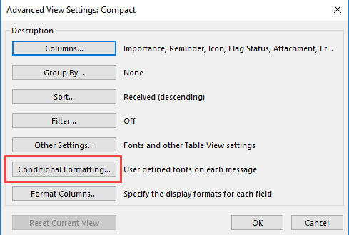 click conditional formatting