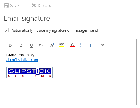 how to make a signature in outlook web