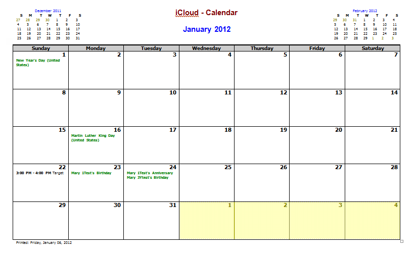 picture about Printable Outlook Calendar identified as Employing and Modifying the My Outlook Calendar Template