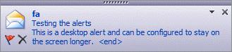 Desk Top alert in Outlook