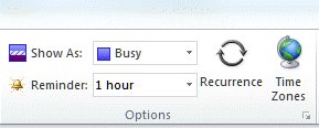 Set the reminder to None when creating the appointment