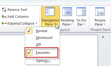 Where is the Favorite Folders Section?