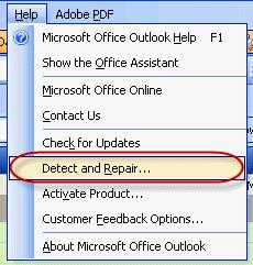 Run Detect and Repair from the Help menu